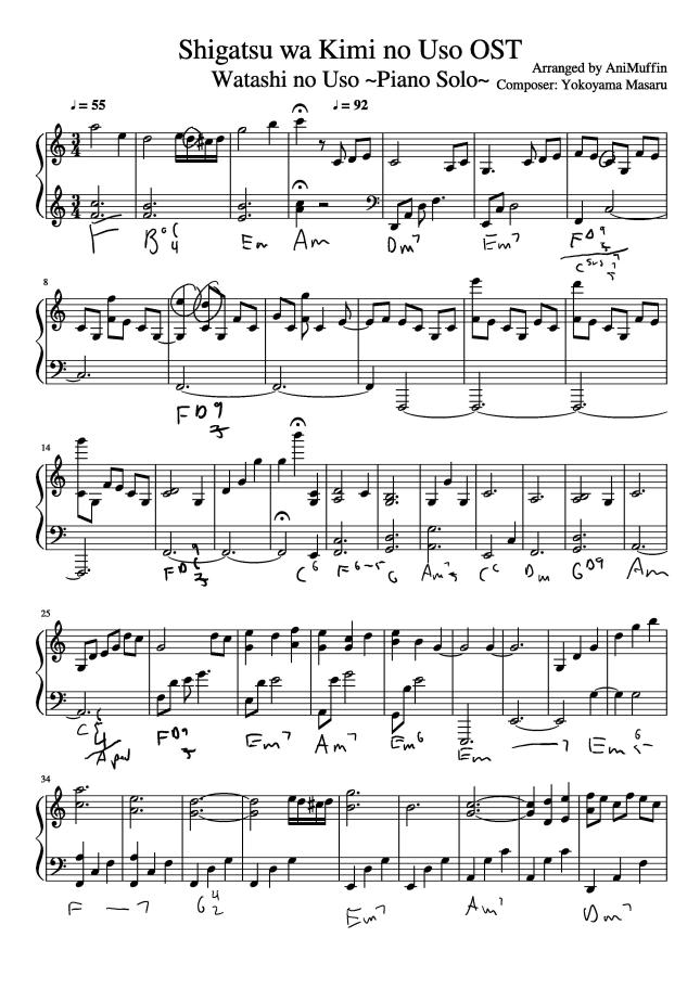 Piano anime piano sheet music : Anime – The Ranting Gamer
